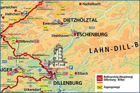 Rothaarsteig Karte.Rothaarsteig Gemeinde Eschenburg Echte Perspektiven
