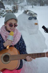 Mit dem Schneemann im Duett