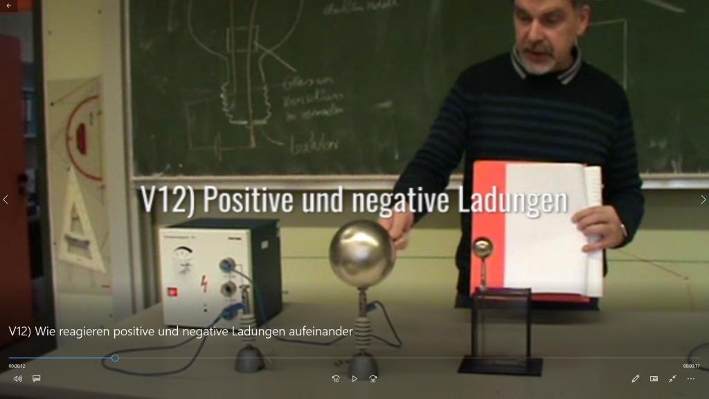 Video-Filme von Experimenten werden gewiss auch im normalen Physik-Unterricht eingesetzt.